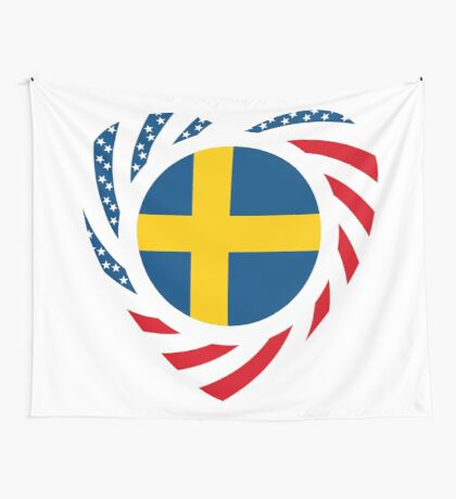 Swedish American Multinational Patriot Flag Series 2.0 Wall Tapestry