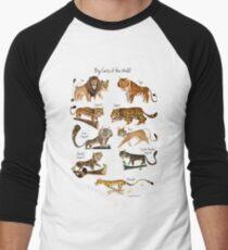 Große Katzen der Welt Baseballshirt mit 3/4-Arm