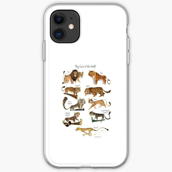 Big cats of the World iPhone Soft Case