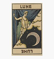 Lune French Tarot Card Photographic Print
