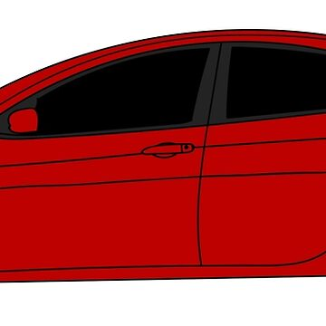 Dodge Dart Redline Red Sticker by Jessimk