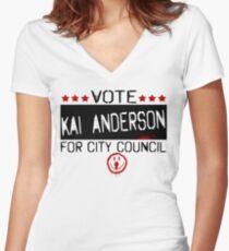 Vote Kai Women's Fitted V-Neck T-Shirt
