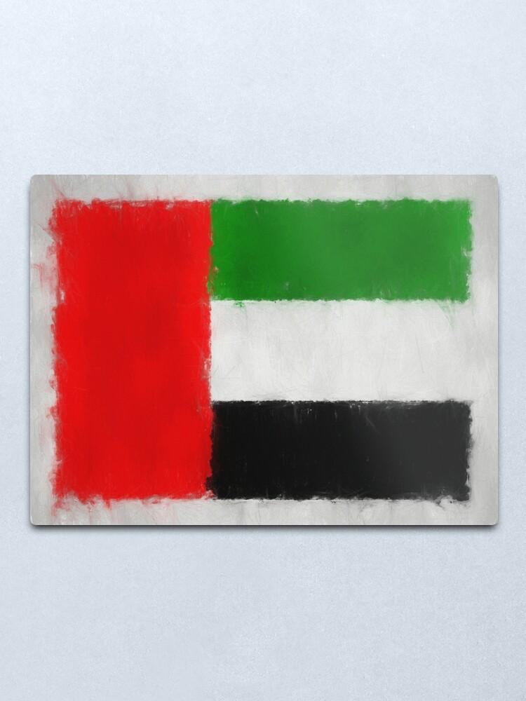 Alternate view of United Arab Emirates Flag Reworked No. 66, Series 3 Metal Print