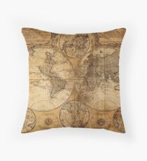 World Map 1736 Throw Pillow