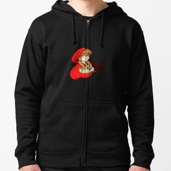 Lil Red Zipped Hoodie