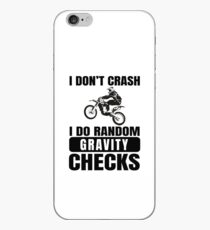 Dirt Bike Motocross T-Shirt- Gravity Just Another Law I'm Gonna Break!  iPhone Case