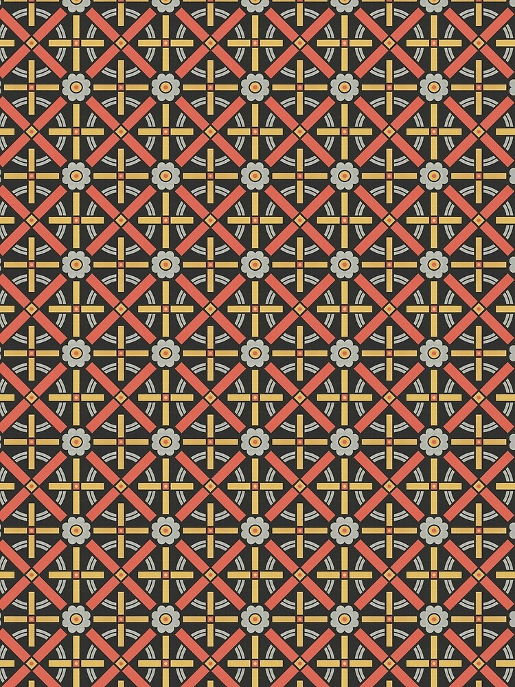 Bold geometric retro pattern designed by Christopher Dresser – State Library Victoria by StateLibraryVic