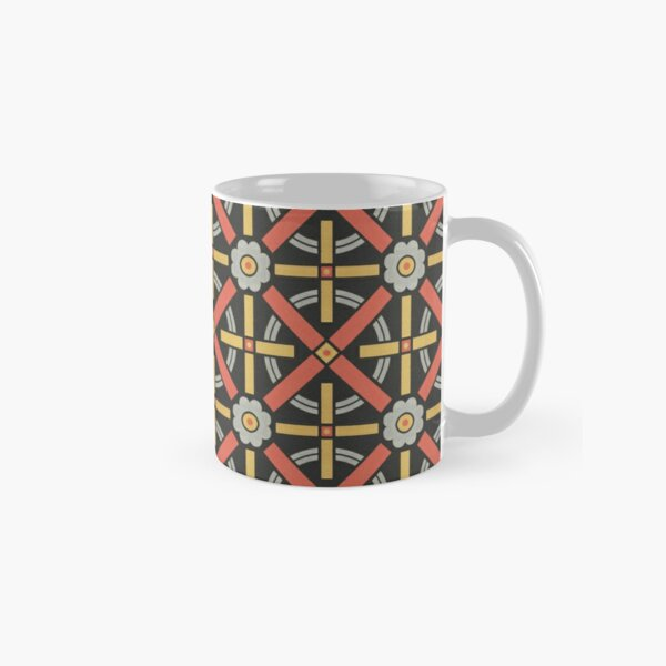 Bold geometric retro pattern designed by Christopher Dresser – State Library Victoria Classic Mug