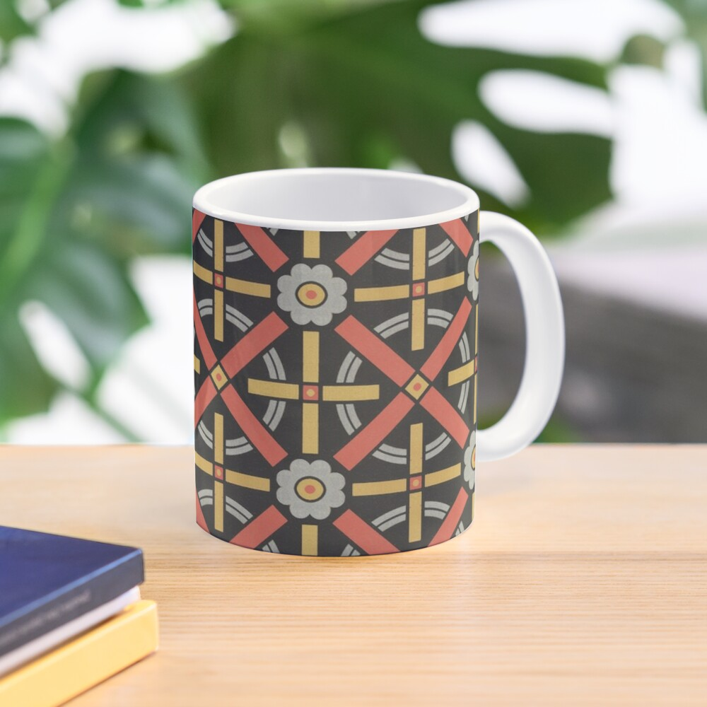 Bold geometric retro pattern designed by Christopher Dresser – State Library Victoria Mug
