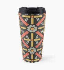 Bold geometric retro pattern designed by Christopher Dresser – State Library Victoria Travel Mug