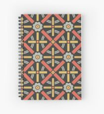 Bold geometric retro pattern designed by Christopher Dresser – State Library Victoria Spiral Notebook