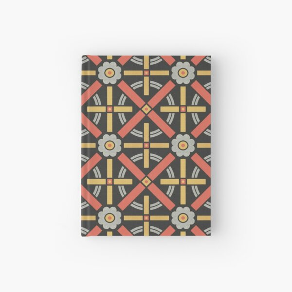 Bold geometric retro pattern designed by Christopher Dresser – State Library Victoria Hardcover Journal