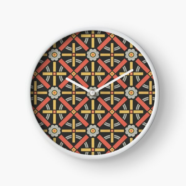 Bold geometric retro pattern designed by Christopher Dresser – State Library Victoria Clock