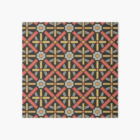 Bold geometric retro pattern designed by Christopher Dresser – State Library Victoria Art Board Print