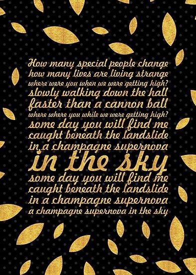 Oasis Champagne Supernova (Creative) by Powerofwordss