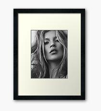 Kate Moss supermodel beauty portrait Framed Print