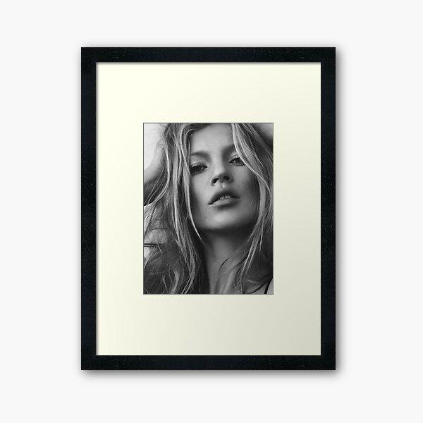 Kate Moss supermodel beauty portrait Framed Art Print