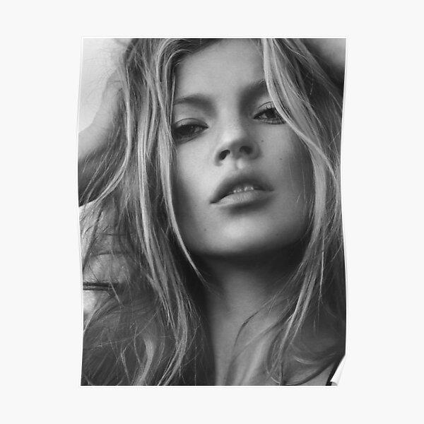Kate Moss supermodel beauty portrait Poster