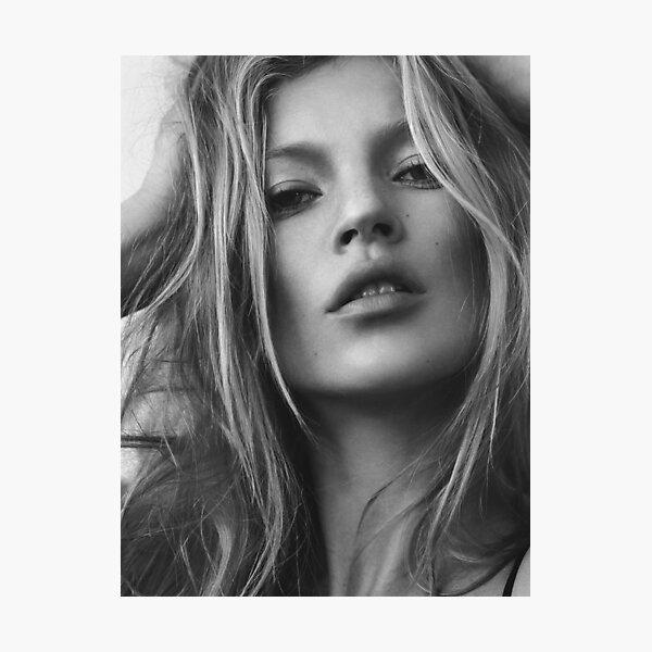 Kate Moss supermodel beauty portrait Photographic Print