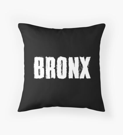 Bronx Trash Letters Throw Pillow