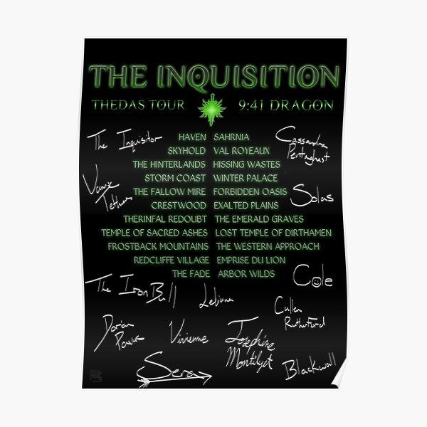Inquisition Concert Tour Poster