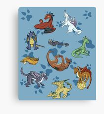 Dice & Dragons Canvas Print