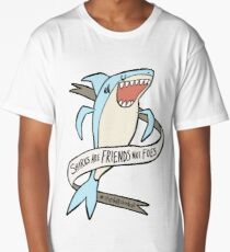 dear premier barnett: sharks are friends, not foes Long T-Shirt