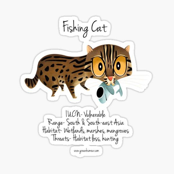 Fishing Cat Sticker