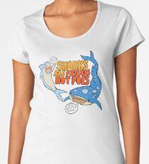 sharks are friends, not foes Women's Premium T-Shirt