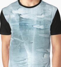 Light steel blue clouded watercolor picture Graphic T-Shirt