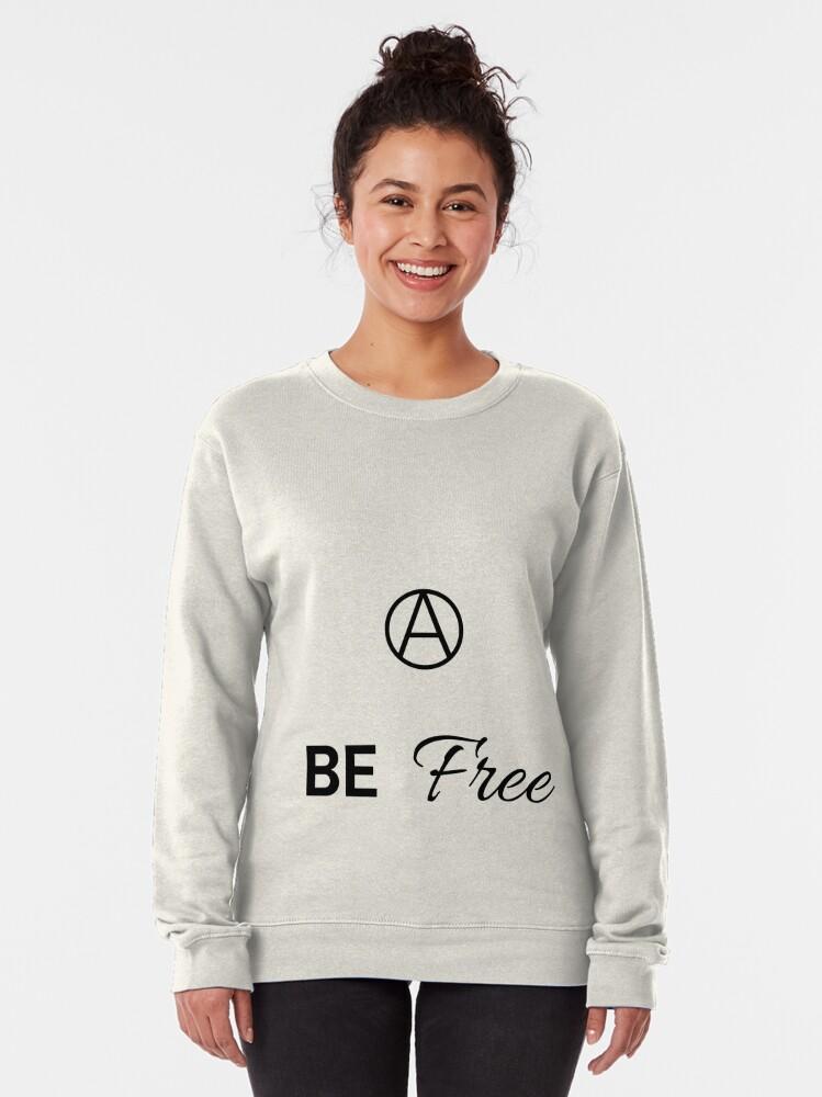 Alternate view of Be Free Script  Pullover Sweatshirt