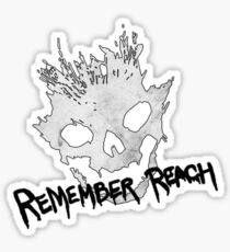 Remember Reach Emile Skull Sticker