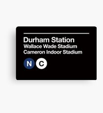Durham, North Carolina (Duke) Sports Venue Subway Sign Canvas Print