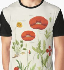 Botanical illustration: Poppy by David Dietrich – State Library Victoria Graphic T-Shirt