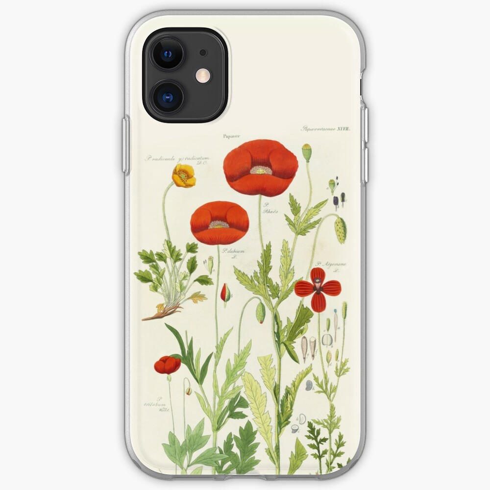 Botanical illustration: Poppy by David Dietrich – State Library Victoria iPhone Case & Cover