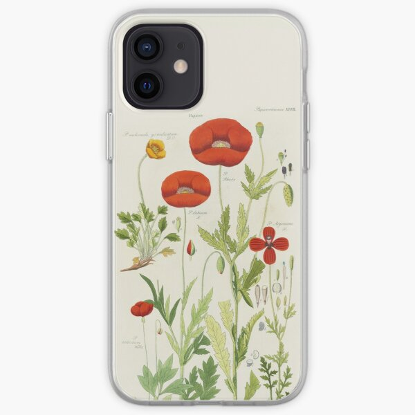 Botanical illustration: Poppy by David Dietrich – State Library Victoria iPhone Soft Case