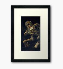 Saturn Devouring His Son Framed Print