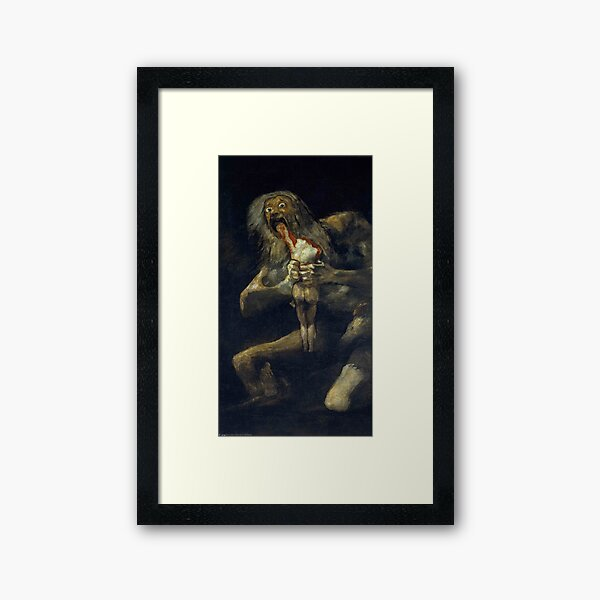 Saturn Devouring His Son Framed Art Print