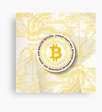 Eat Sleep Bitcoin Canvas Print