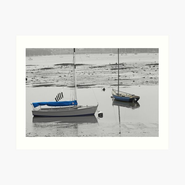 Two Boats at Low Tide Art Print