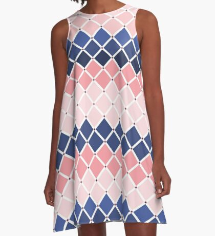 AFE Diamond Checker Tiles  A-Line Dress