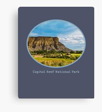 Capitol Reef National Park, Utah. Scenic Landscape Design Canvas Print