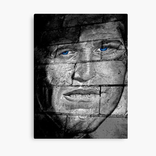 Portrait Movie Film Actor Steve Mcqueen Smoking Cool Canvas Art Print