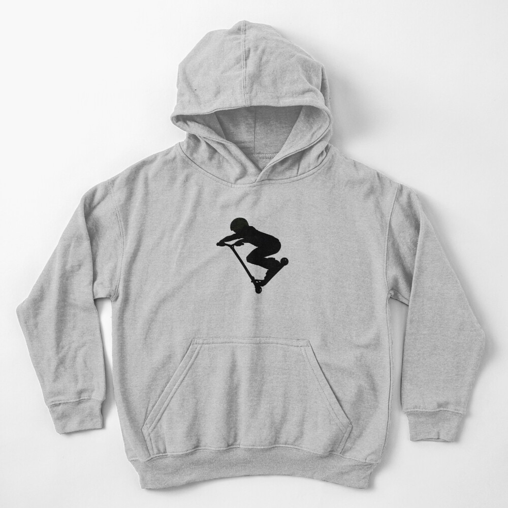 Scooter Boy 5B (no shadow) Stunt Scooter Kids Pullover Hoodie