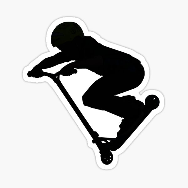 Scooter Boy 5B (sans ombre) Trottinette Stunt Sticker