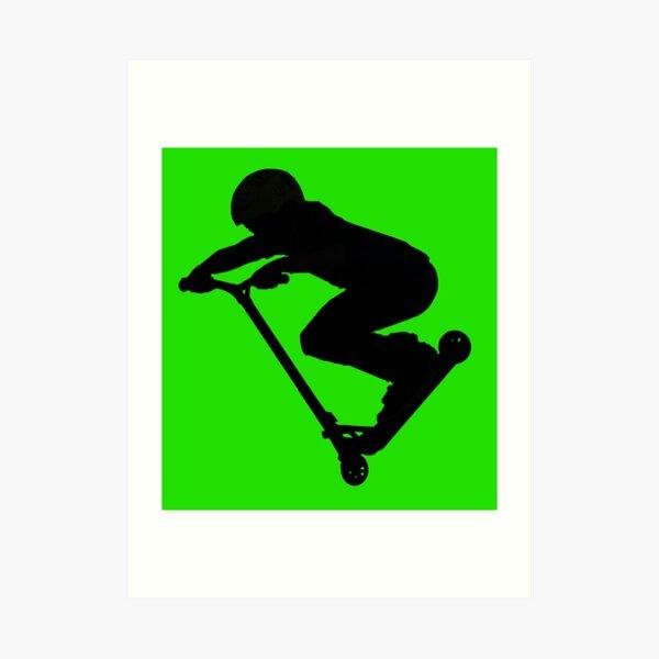 Scooter Boy 5B (no shadow) Stunt Scooter Art Print
