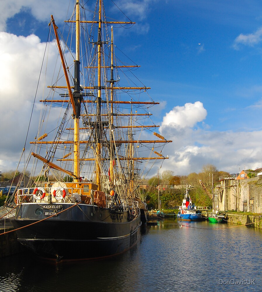Tall Ships Charlestown Harbour Cornwall by DonDavisUK