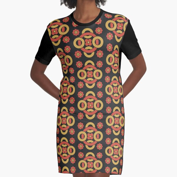 Circular vintage pattern by Christopher Dresser – State Library Victoria Graphic T-Shirt Dress