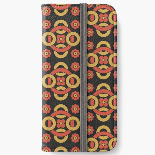 Circular vintage pattern by Christopher Dresser – State Library Victoria iPhone Wallet