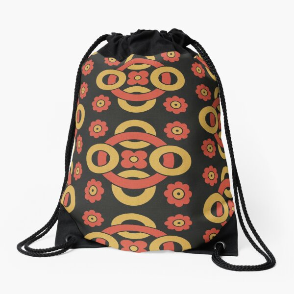 Circular vintage pattern by Christopher Dresser – State Library Victoria Drawstring Bag